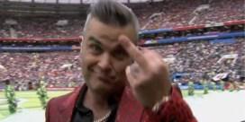 Enfant terrible Robbie Williams kan het niet laten: middenvinger tijdens openingsceremonie van WK