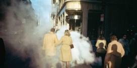 'Camel coat couple in street steam, New York City'(1975)