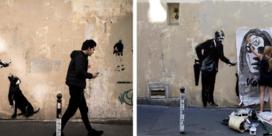 Banksy besmeurd en beschermd