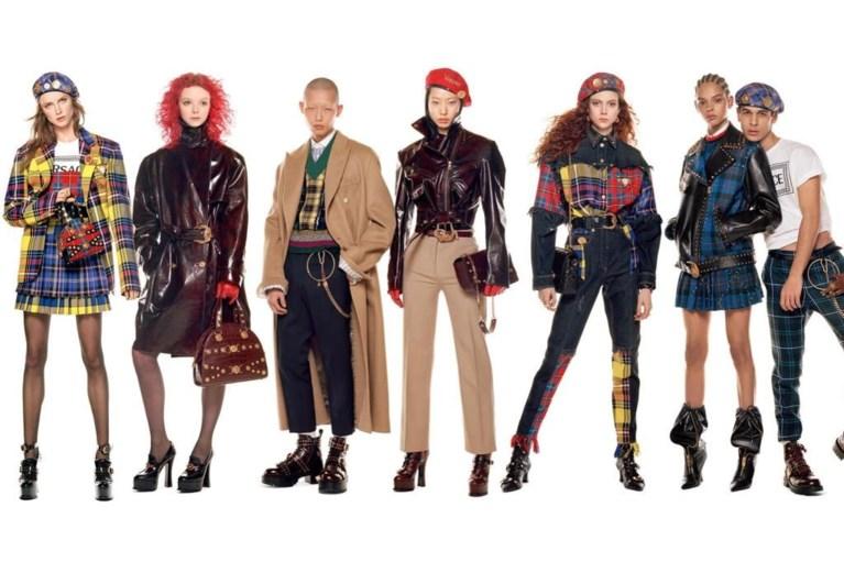 Meer dan 50 supermodellen poseren voor Versace
