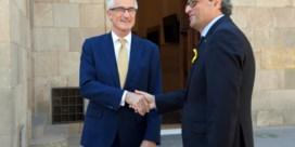Geert Bourgeois komt als eerste aan in Catalonië
