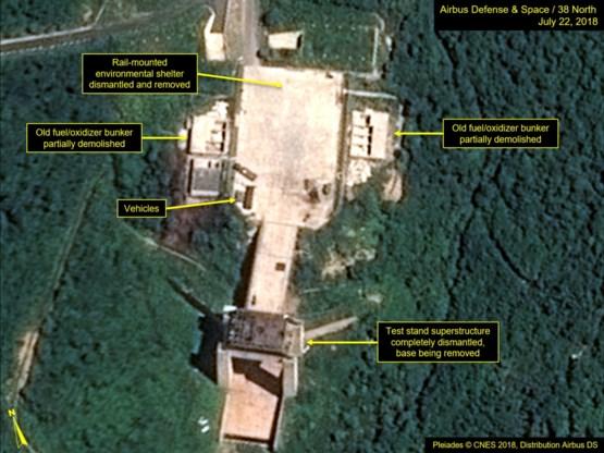 'Noord-Korea ontmantelt lanceerbasis voor satellieten'