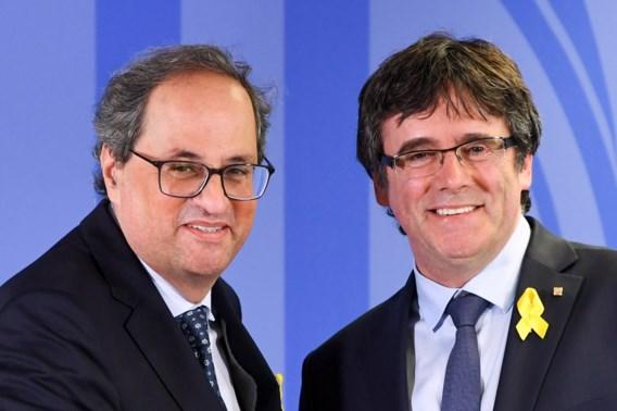 Puigdemont: 'Ben na lange reis terug op Catalaanse bodem'
