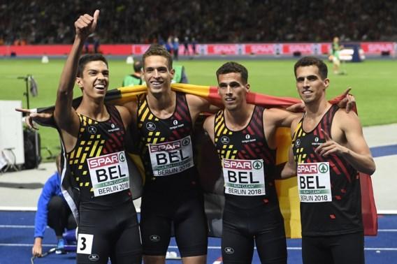 """Belgian Tornados na het goud op de 4x400m: """"Wat een speciale week hebben we achter de rug"""""""