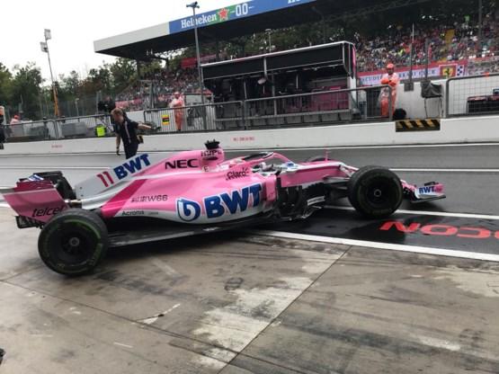 Sergio Perez snelste in de regen tijdens eerste oefensessie GP van Italië