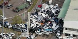 Luchtbeelden tonen ravage in Japan na tyfoon