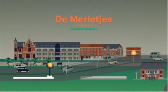 In een ludieke actie bombardeert Groen-Vizie Izegem de centrumbrug met Merletjes