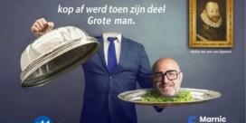Open VLD'er Zottegem onthoofd op verkiezingsaffiche? Knipoog naar Egmont
