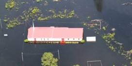 Luchtbeelden tonen zware overstromingen na orkaan Florence