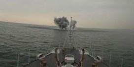 Belgische marine ontmijnt bom uit WOII voor de kust in Middelkerke