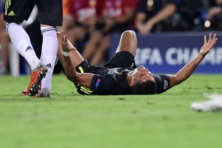 Cristiano Ronaldo in tranen na rode kaart in eerste match met Juventus in Champions League