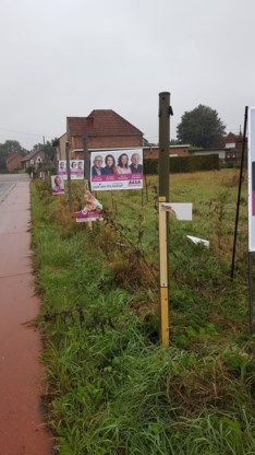 Verkiezingsvandalen aan het werk