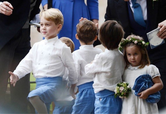 George en Charlotte opnieuw bruidskindjes