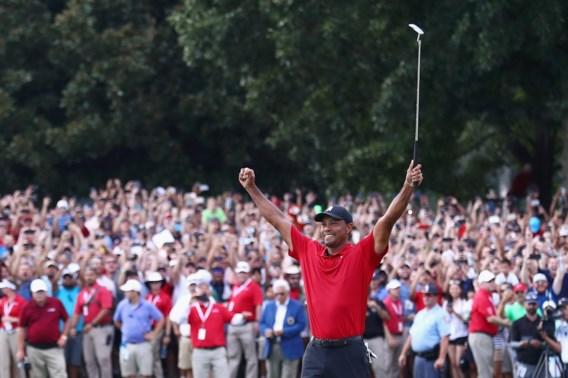 Tiger Woods wint eerst golftoernooi in vijf jaar