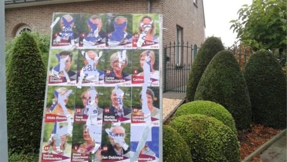 Verkiezingsborden van drie Zwevegemse partijen beschadigd