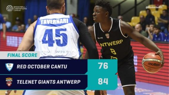 Antwerp Giants nemen met winst in Italië optie op hoofdtoernooi