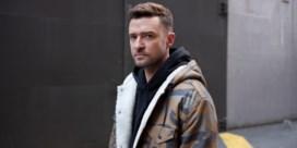 Justin Timberlake in zee met Levi's
