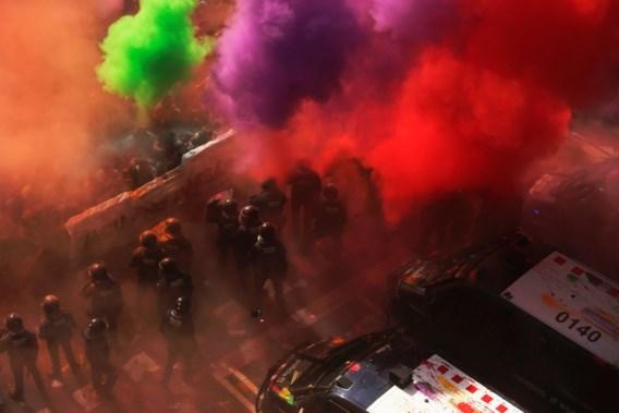 Rellen bij betoging in Barcelona