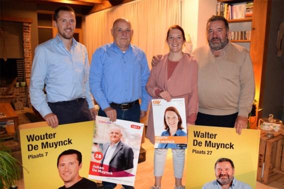 """Vier De Muyncks op drie verschillende lijsten: """"Op familiefeesten babbelen we niet over politiek, er zijn interessantere dingen"""""""