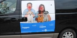Vandalen bekladden foto's van burgemeester en partner