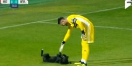 Hond steelt de show tijdens voetbalwedstrijd