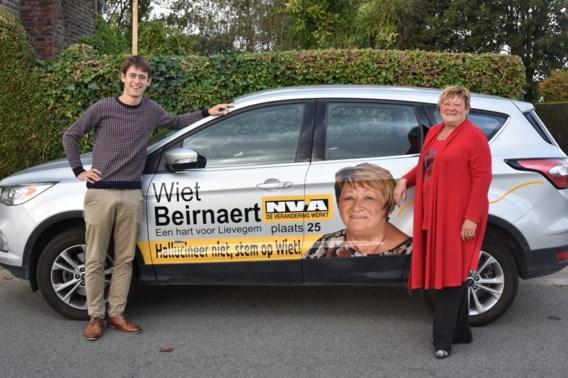 """""""Hallucineer niet, stem op Wiet""""; N-VA-kandidate (67) met opmerkelijke voornaam verwerkt die dan maar in haar slogan"""