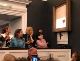 Versnipperd werk van Banksy toch verkocht voor biedprijs