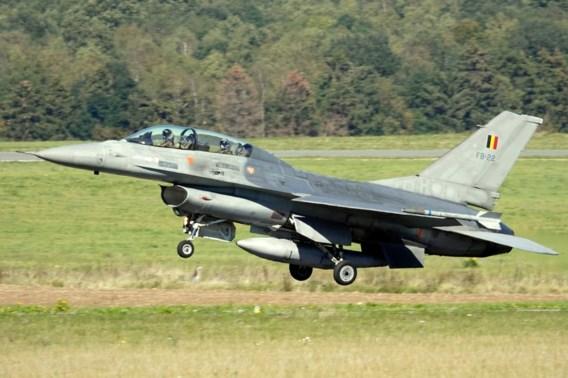 F-16 uitgebrand op militaire basis in Florennes