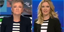 Voorakkoord tussen VRT en VTM: Martine Tanghe en Elke Pattyn dragen dezelfde outfit