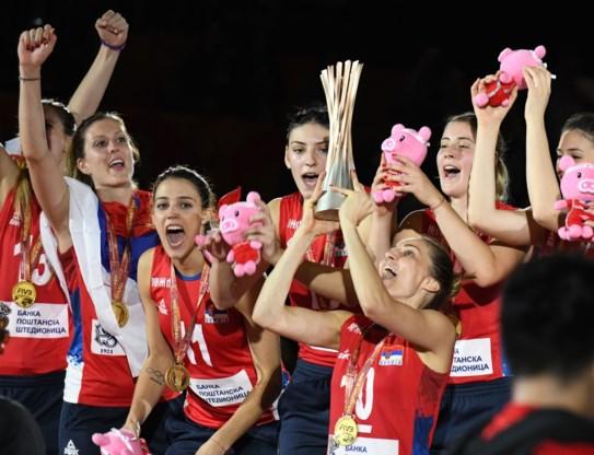Servische vrouwen kronen zich voor het eerst tot wereldkampioen volleybal