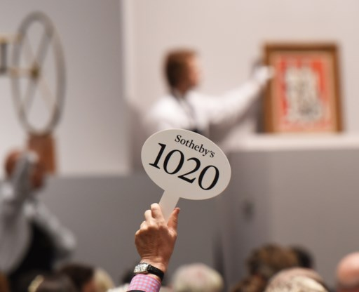 Sotheby's voor vijf miljoen dollar gerold