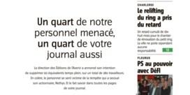 'L'Avenir' maakt protestkrant tegen nakende ontslagen