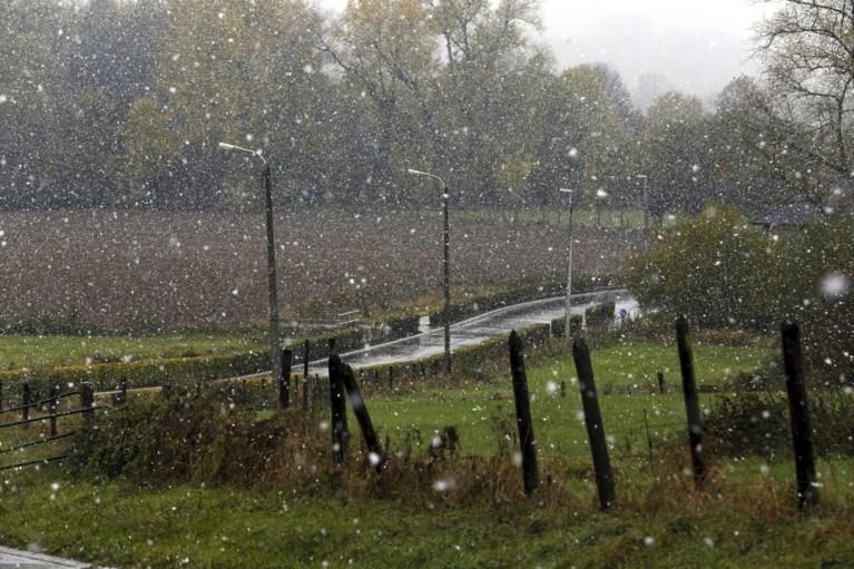 Eerste sneeuw is gevallen in België