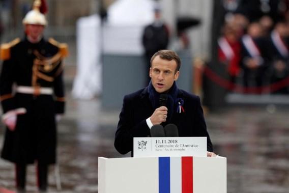 Macron tijdens herdenking Wapenstilstand: 'Nationalisme is verraad aan vaderland'