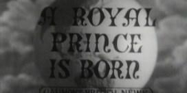 Zo werd de geboorte van prins Charles in 1948 aangekondigd op de Britse televisie