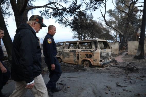 Trump ziet 'harken en opkuisen' als middel tegen bosbranden