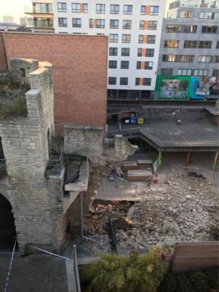 Deel oude stadsomwalling Brussel ingestort