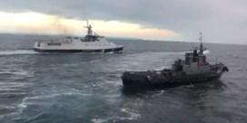 Dit is het moment waarop Oekraïens schip geramd wordt