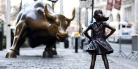 Stier van Wall Street niet langer samen met het-meisje-zonder-vrees