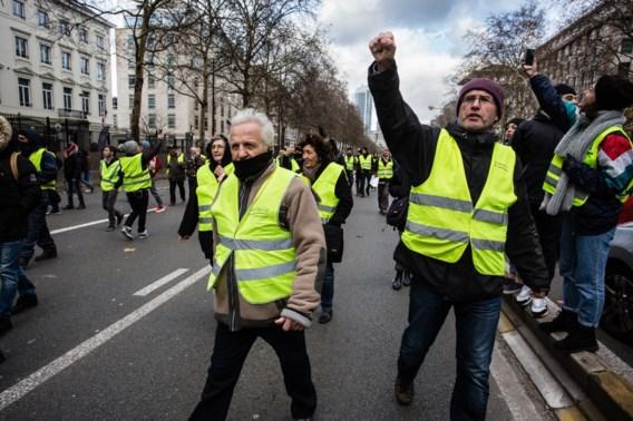 Gele hesjes houden het rustig in Brussel