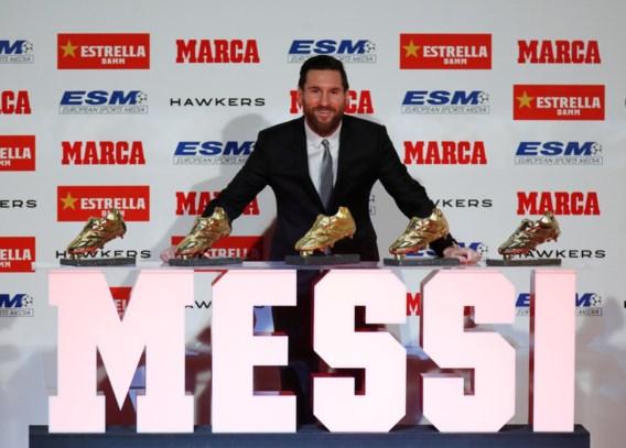 Lionel Messi mag vijfde Europese Gouden Schoen op palmares schrijven