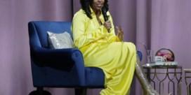 Michelle Obama verrast met dijhoge laarzen