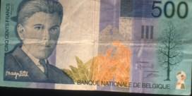 Wachtrij om Belgische frank om te wisselen