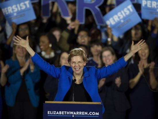 Elizabeth Warren is presidentskandidate Amerikaanse voorverkiezingen