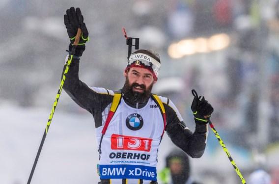 Biatleet Michael Rösch neemt afscheid met negentiende plaats in aflossing