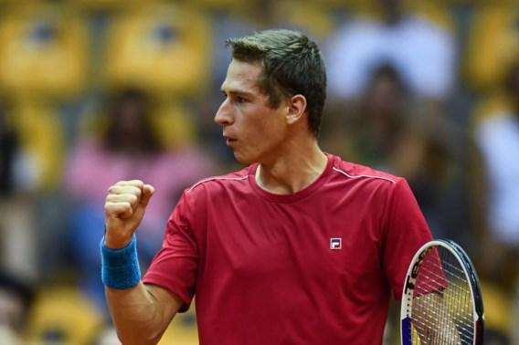 Coppejans doet het opnieuw: Belgisch Davis Cup-team verslaat Brazilië en plaatst zich voor finaleweek
