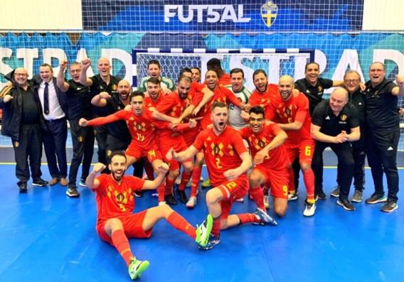 Belgische futsalploeg plaatst zich als groepswinnaar voor laatste WK-kwalificatieronde
