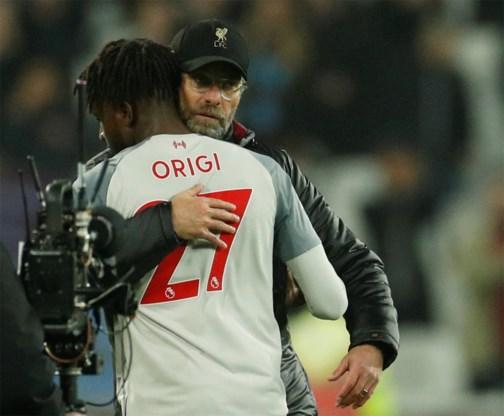 Liverpool laat voor tweede week op rij punten liggen na misser van Divock Origi in blessuretijd
