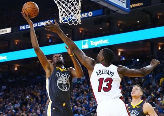 Golden State Warriors ontsnappen tegen Miami Heat