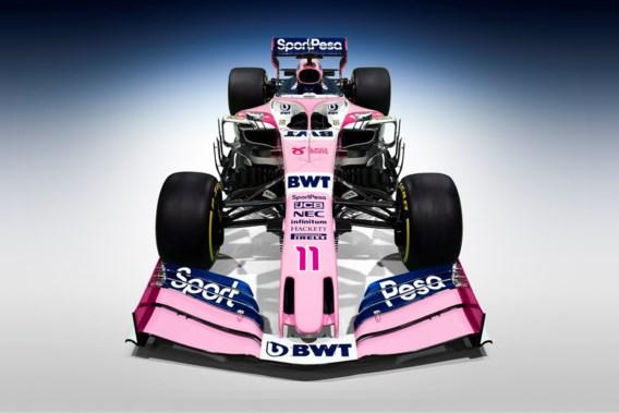 Opnieuw een roze wagen in de Formule 1